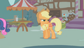 Applejack glaring at Apple Bloom S1E12.png
