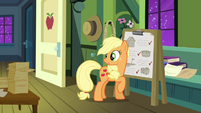 Applejack looks behind S3E08