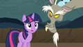 Discord smiles and Twilight gasps S2E2.png