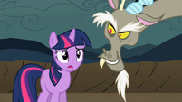 Discord smiles and Twilight gasps S2E2