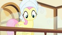 Fluttershy hears Pinkie praising her S4E14