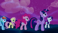 Mane Six observing the Tantabus S5E13