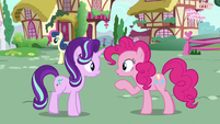 Pinkie Changeling addresses Starlight as --you-- S6E25