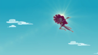 Pinkie Pie sailing high into the air EGDS16