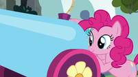 Pinkie Pie with her party cannon S8E2