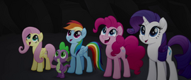 Ponies and Spike moved by Capper's speech MLPTM