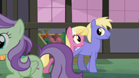 Ponies walking through Ponyville S8E12