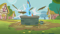 Rainbow Dash breaking through S2E8