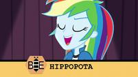 """Rainbow Dash spelling """"hippopotamus"""" EG3"""