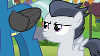 Rumble looking annoyed at Thunderlane S7E21