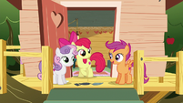 Scootaloo --we were able to help her get her mark-- S6E19