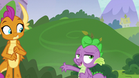 "Spike ""just sleeping outside"" S8E24"