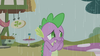 Spike snickering at Twilight S1E03