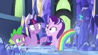 Starlight Glimmer grinning with excitement S7E10