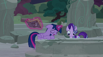 Twilight Sparkle sighing with defeat S7E25