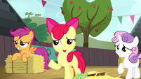 Apple Bloom asks if they can stop cleaning S5E6