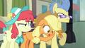 Applejack nervously bumps into ponies S5E16.png