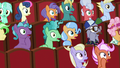 Audience ponies gasping in shock S8E5.png