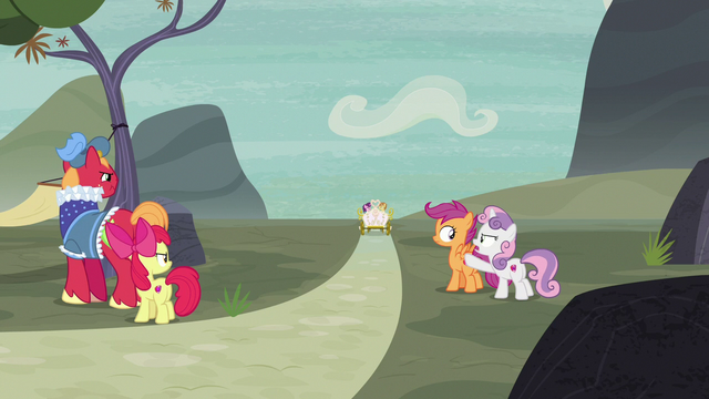 File:Big Mac and CMCs watch Sugar Belle and Feather ride away S7E8.png