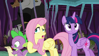 "Fluttershy ""Clarissa the pig has two tails"" S8E26"
