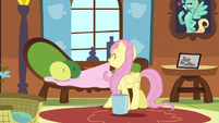 Fluttershy fixing the couch S6E11