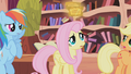 Fluttershy looking at the tickets S01E03.png