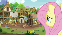 Fluttershy observing the expert ponies' progress S7E5