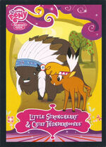 Little Strongheart & Chief Thunderhooves Enterplay series 2 trading card