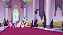Mane Six make it inside Canterlot Castle S9E2