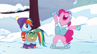 Pinkie suggests a -happy wake-up- party S5E5