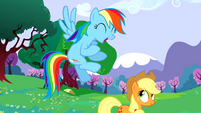 Rainbow Dash excited about sonic rainboom S02E25