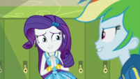 Rarity keeping peace between Rainbow and AJ EGDS4