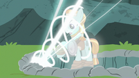 Rockhoof's body filling with magic S7E16