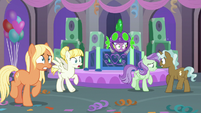Spike and students on shaking ground S9E7