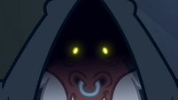 Tirek's eyes glowing yellow S4E25