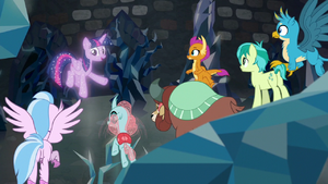 Tree of Harmony addressing the Young Six S8E22