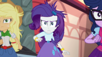 AJ, Rarity, and Twilight follow Rainbow Dash EGS2