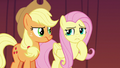 AJ and Fluttershy uncertain of Flim and Flam's motives S6E20.png