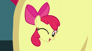 Apple Bloom's cutie mark winking S5E04