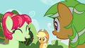 Applejack looking at the two mares S3E08.png