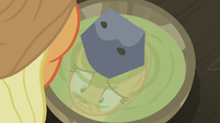 Applejack staring at her soup bowl S5E20