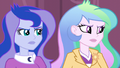 Celestia and Luna offended by Cinch's words EG3.png