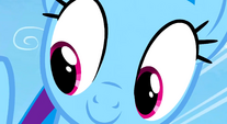 Close look of Rainbow Dash smiling S3E12