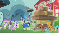 Delivery pony delivers new playground equipment S5E18