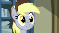 Derpy appears from behind the counter MLPBGE