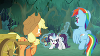 Fake Rarity acting extremely paranoid S8E13