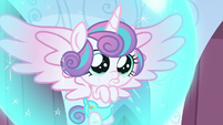 Flurry Heart starting to tear up S6E1