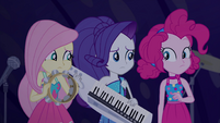 Fluttershy, Rarity, and Pinkie unsure EGSB