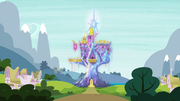 Friendship Rainbow Kingdom glowing radiantly S4E26