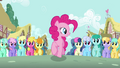 Pinkie Pie marching with crowd S2E18.png